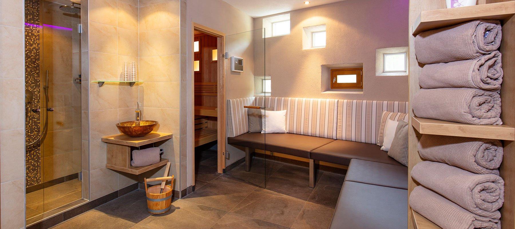 Sauna im Apart Falkner